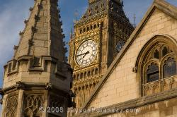 Big Ben (the bell), inside the clock tower, lurking behind Parlement