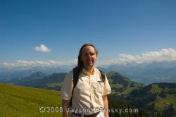 Atop of Mt. Rigi in the Swiss Alps